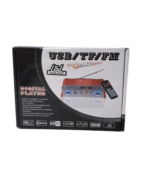 Amplificador de perifoneo YW-AD802 L - Caja