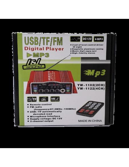 Amplificador Mini YW-1102 L - Caja